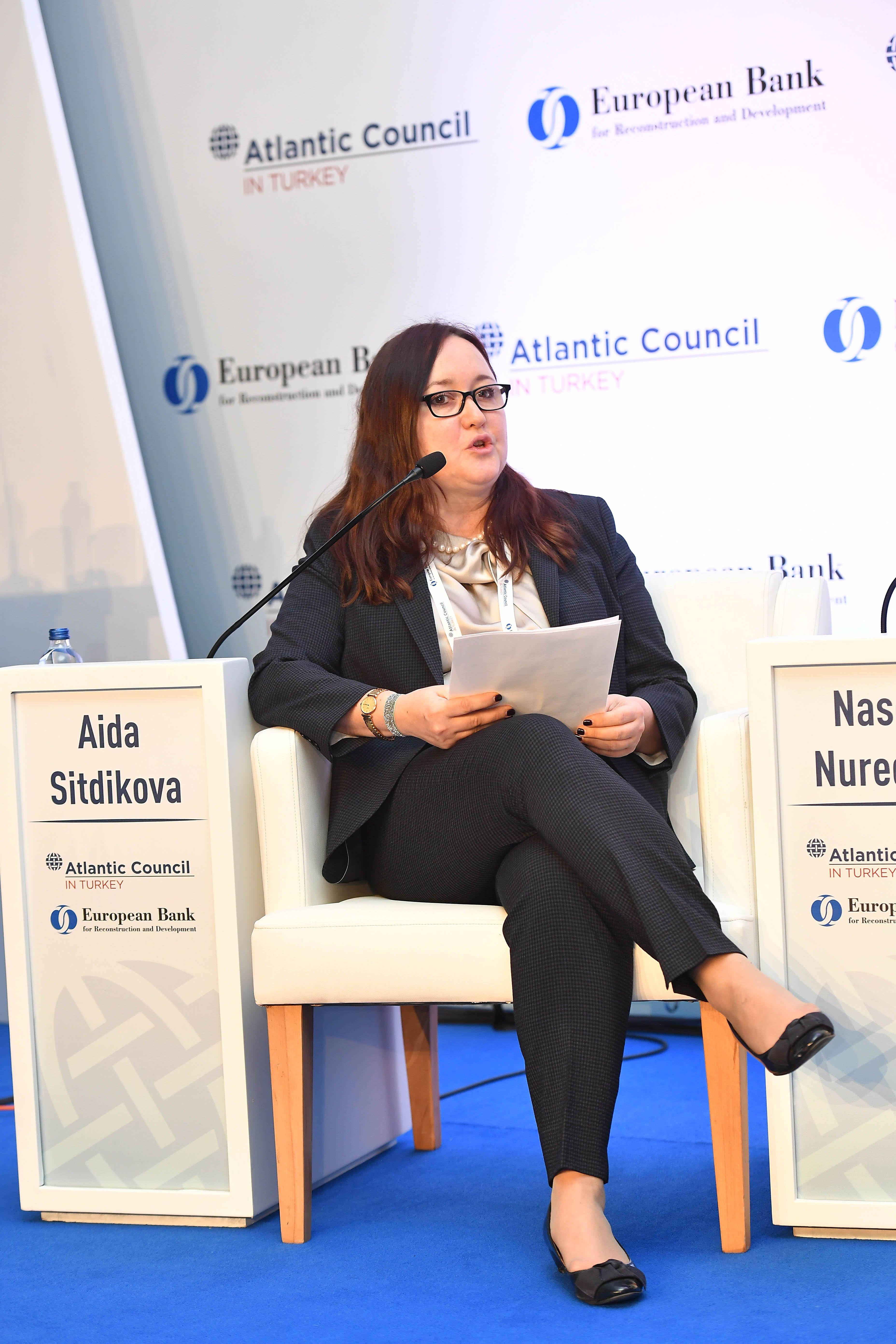 EBRD Director of Energy Eurasia for Sustainable Infrastructure Group Aida Sitdikova.