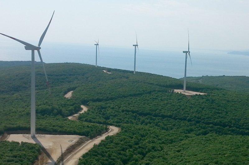 A view of Borusan Enerji's 28 MW wind farm located on the west coast of the Black Sea in the province of Kırklareli. (Photo courtesy of Borusan Enerji)