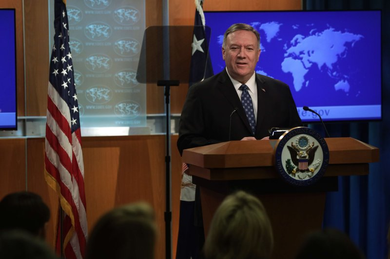 U.S. Secretary of State Mike Pompeo speaks during a news briefing at the State Department, Feb. 25, 2020, in Washington, D.C. (AFP Photo)
