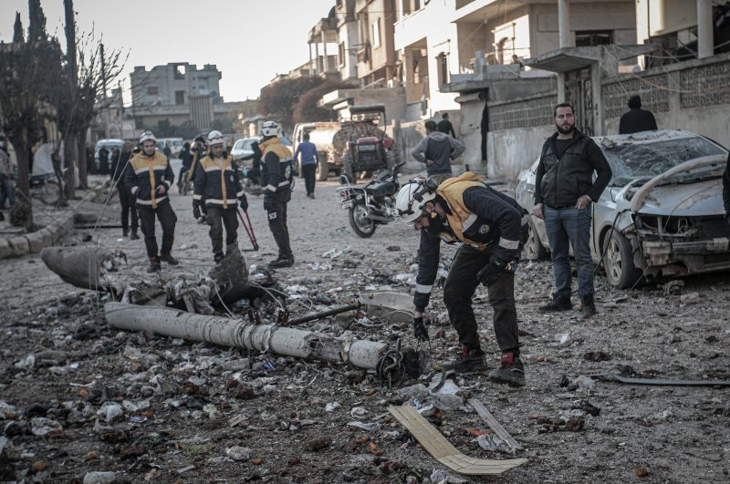 Around 20 civilians have lost their lives in airstrikes conducted by the Assad regime and Russia in Syria's Idlib de-escalation zone, Feb. 25, 2020. (AA Photo)