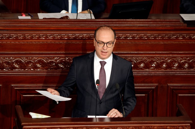 Tunisia's Prime Minister Elyes Fakhfakh speaks at the Assembly of People's Representatives, Tunis, Feb. 26, 2020. (REUTERS Photo)