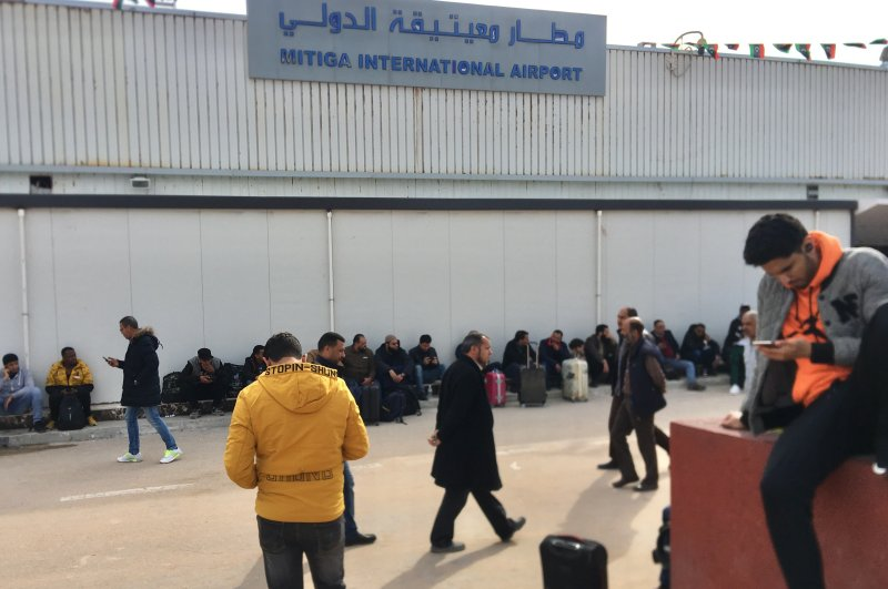 Following the attack by Haftar's forces, flights were suspended at the Mitiga Airport, Feb. 27, 2020. (AA Photo)
