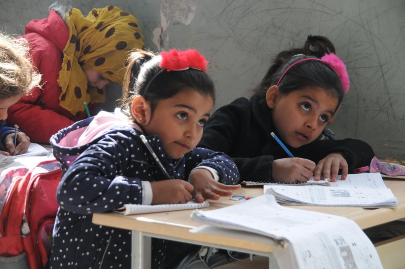 22,457 students are provided education at schools in northern Syria's Tal Abyad after the city was cleared of terrorists in Turkey's Operation Peace Spring, Feb. 27, 2020. (DHA Photo)