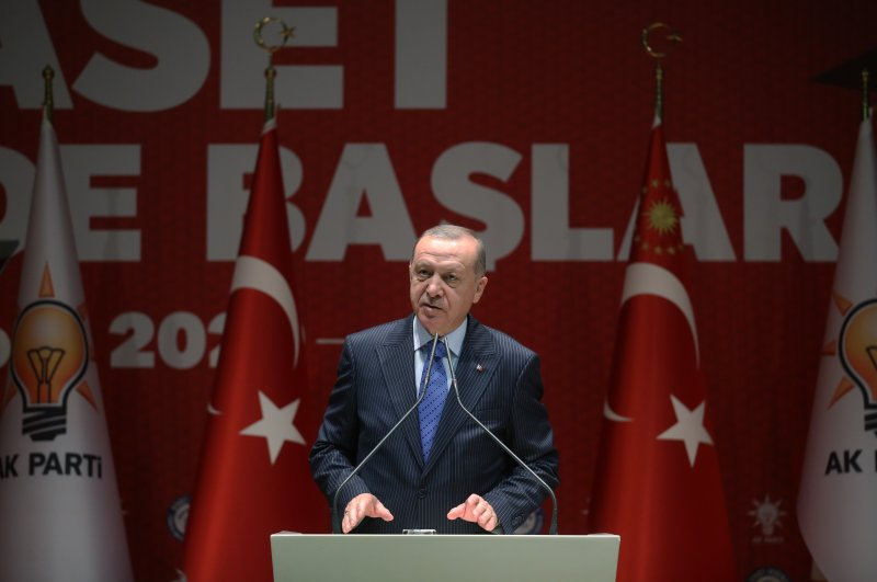 President Recep Tayyip Erdoğan speaks at the opening ceremony of AK Party's Politics Academy on Thursday, Feb. 27, 2020. (AA Photo)