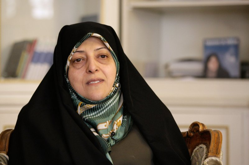 In this Feb. 14, 2013 file photo, Iranian Vice-President Masoumeh Ebtekar gives an interview to The Associated Press, in Tehran, Iran. (AP Photo)