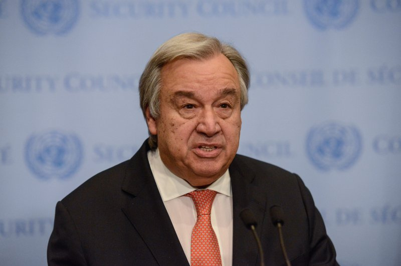 United Nations Secretary-General Antonio Guterres delivers remarks to the press at United Nations headquarters in New York City, Dec. 6, 2017. (AFP Photo)
