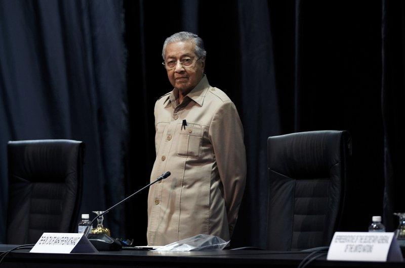 Malaysia's interim leader Mahathir Mohamad attends the committee meeting, Kuala Lumpur, Feb. 28, 2020. (AP Photo)