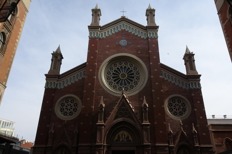 The church, built in the early 20th century, is located on the famed İstiklal Avenue of Istanbul. (DHA Photo)