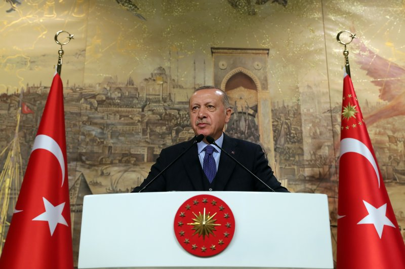 President Recep Tayyip Erdoğan addresses ruling AK Party deputies in Istanbul, Feb. 29, 2020. (AA Photo)