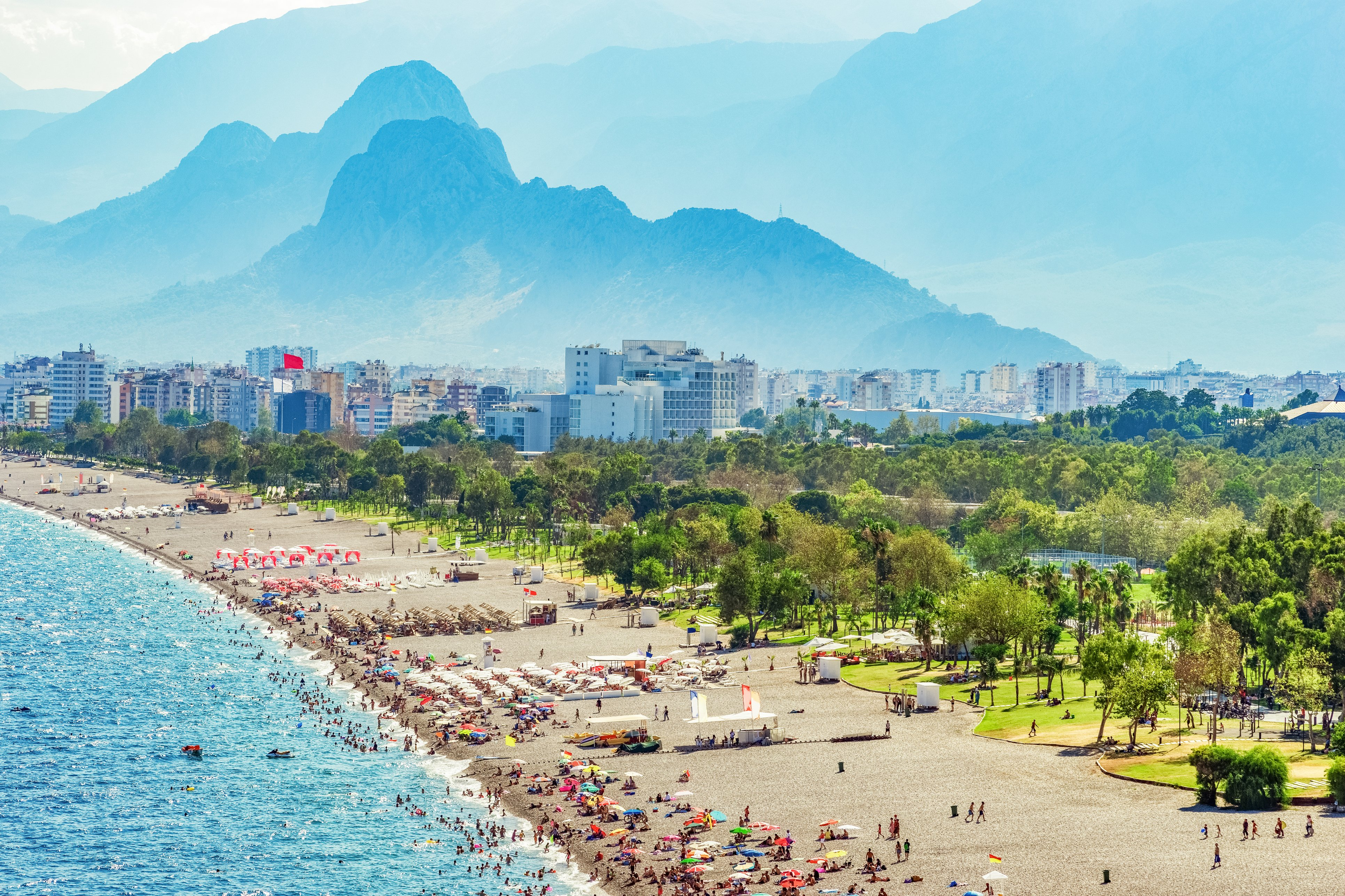 Splendid natural attractions in Antalya- The crowded beach
