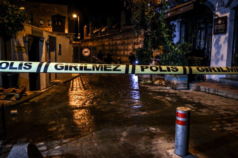 Scene of Le Mesurier's death, Istanbul, Nov. 11, 2019. (AA Photo)