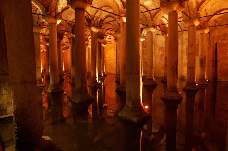 Basilica Cistern is among places where admission fees are going up. (AA Photo)