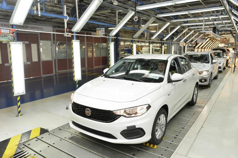 In this undated file photo, cars are seen rolling off the production line of Tofaş factory Bursa, a joint venture of Turkey's Koç Holding and Italian-American carmaker Fiat Chrysler.
