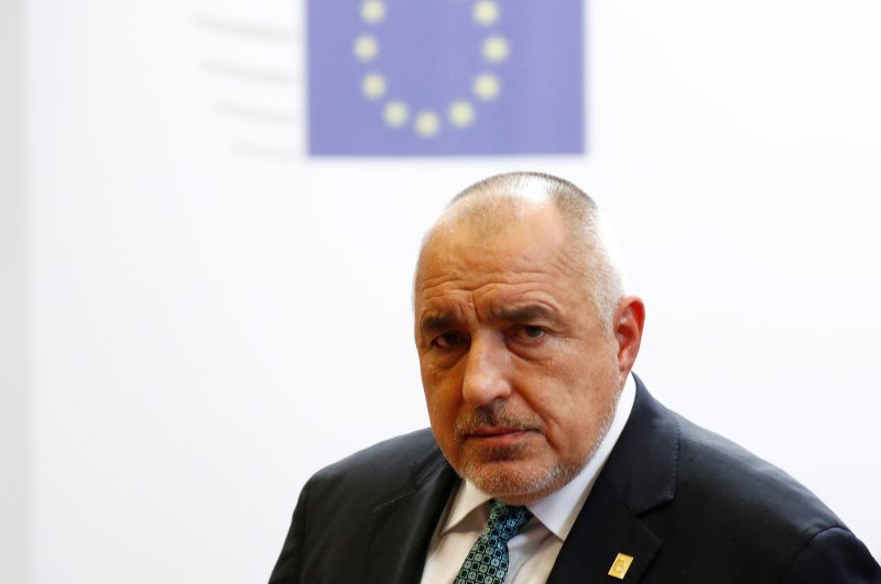 Bulgarian Prime Minister Boyko Borissov leaves the second day of the European Union leaders summit, Brussels, Belgium, Feb. 21, 2020. (Reuters Photo)
