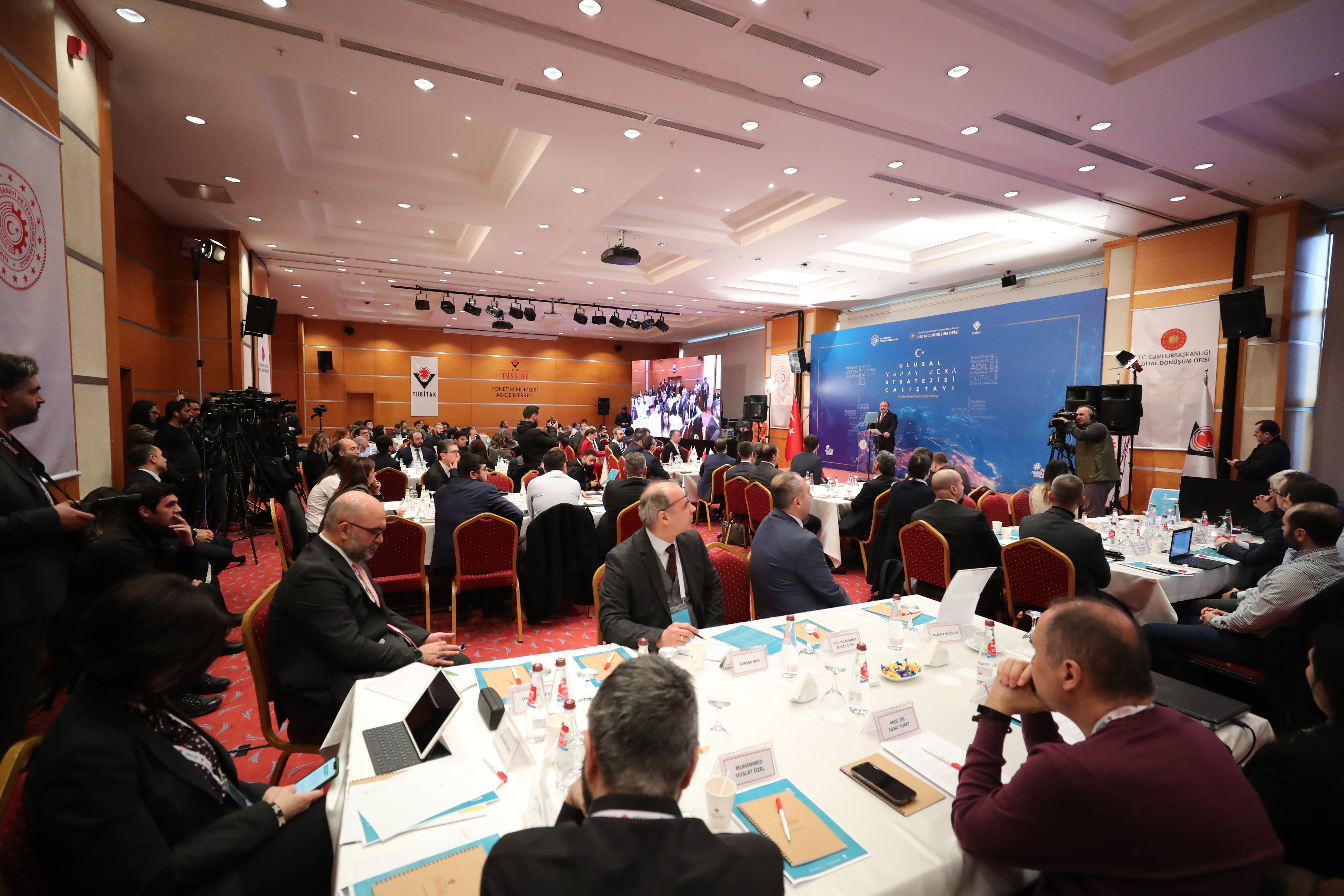 Industry experts and tech leaders from all across Turkey came together at the National AI Strategy Workshop held in Gebze to discuss a road map. (AA Photo)
