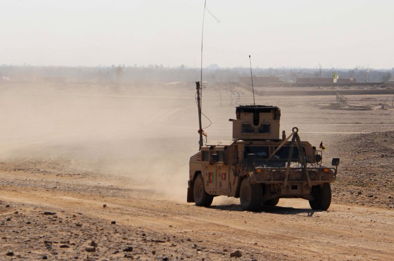 Afghan security officials patrol in Helmand, Afghanistan, March 3, 2020. (EPA Photo)