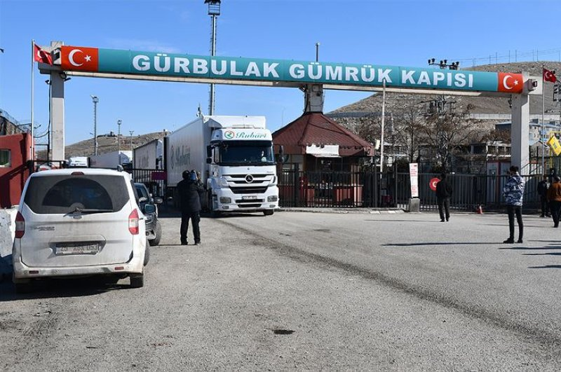 Gürbulak Border Gate in eastern Turkey's Ağrı province along Iranian border. (AA Photo)