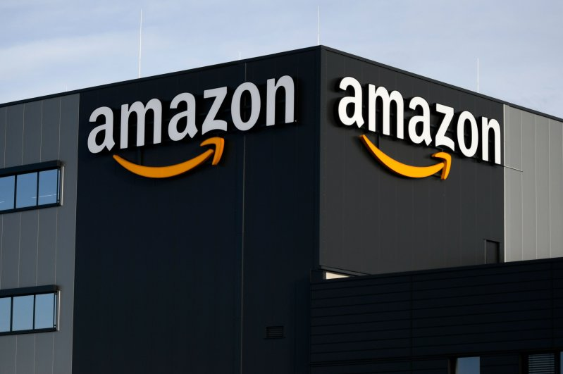 The logo of U.S. online retail giant Amazon is seen at the distribution center in Moenchengladbach, western Germany, Dec. 17, 2019. (Reuters Photo)