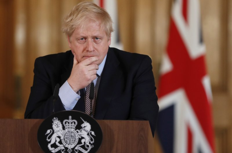 Britain's Prime Minister Boris Johnson speaks during a news conference at 10 Downing Street to unveil government planning to combat the coronavirus, London, March 3, 2020. (AFP Photo)