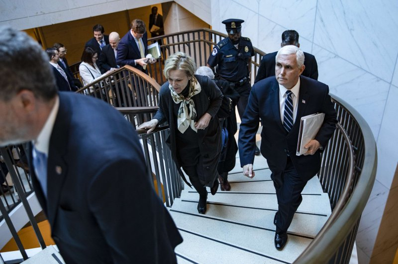 Vice President Mike Pence leaves the US Caption after meeting with Congressional Democrats and Republicans, in separate closed-door meetings, on recent developments with the novel coronavirus, or COVID-19, on March 4, 2020 in Washington, DC. (AFP Photo)