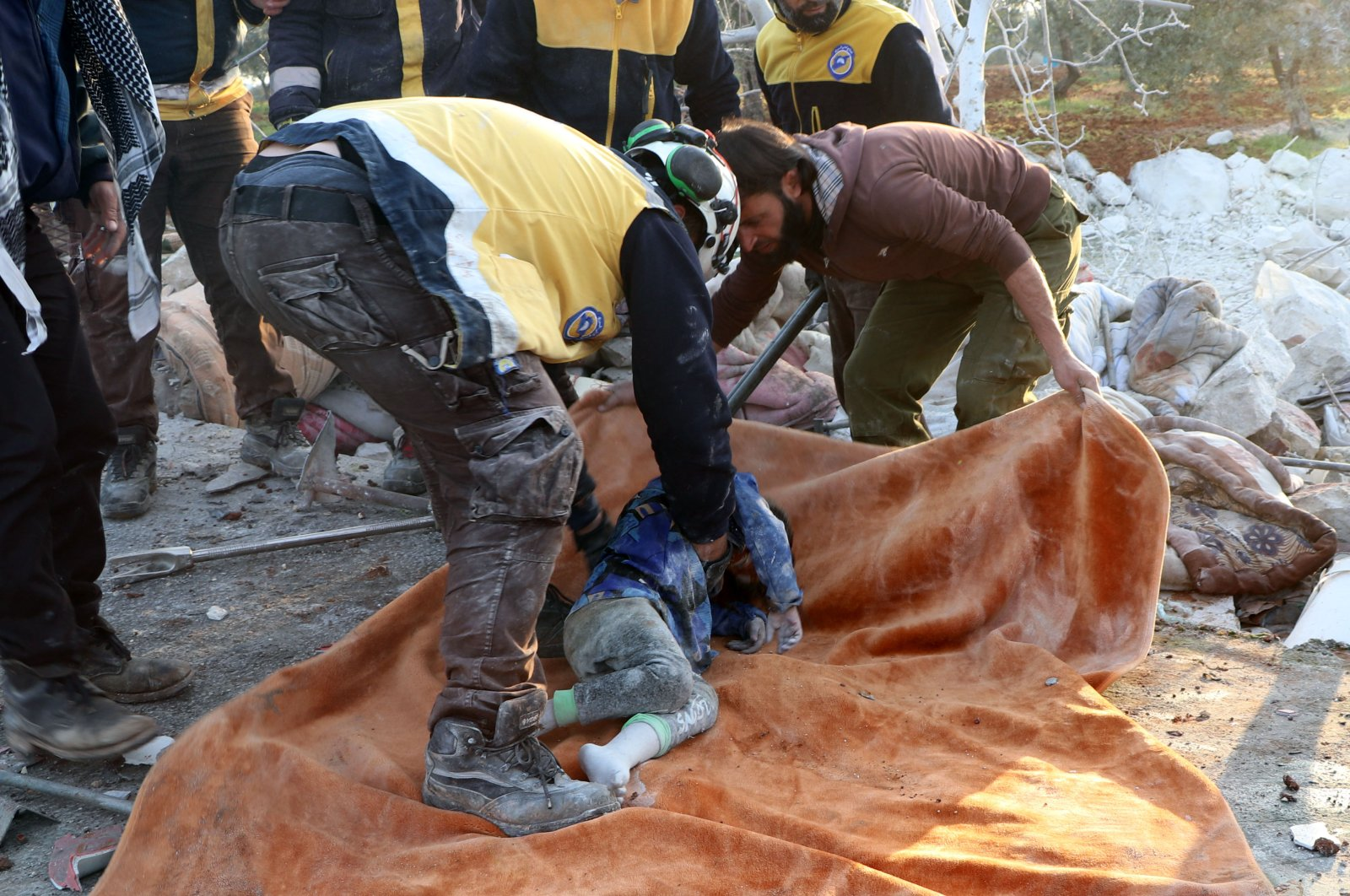 At least 16 civilians – including one child – were killed in rural Idlib during Russian airstrikes. (DHA Photo)