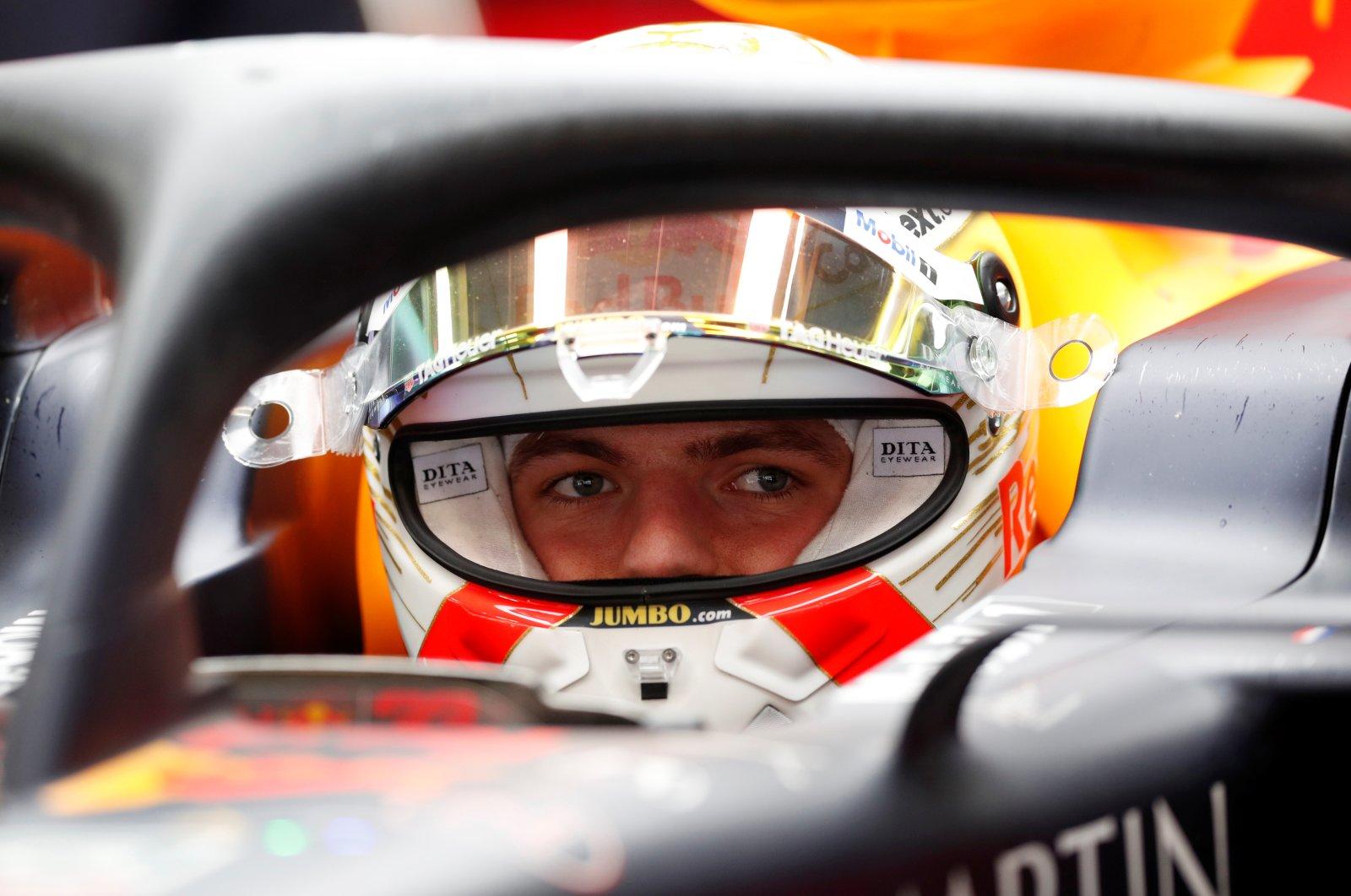 Red Bull's Max Verstappen in his car during pre-season testing in Barcelona, Feb. 28, 2020. (Reuters Photo)