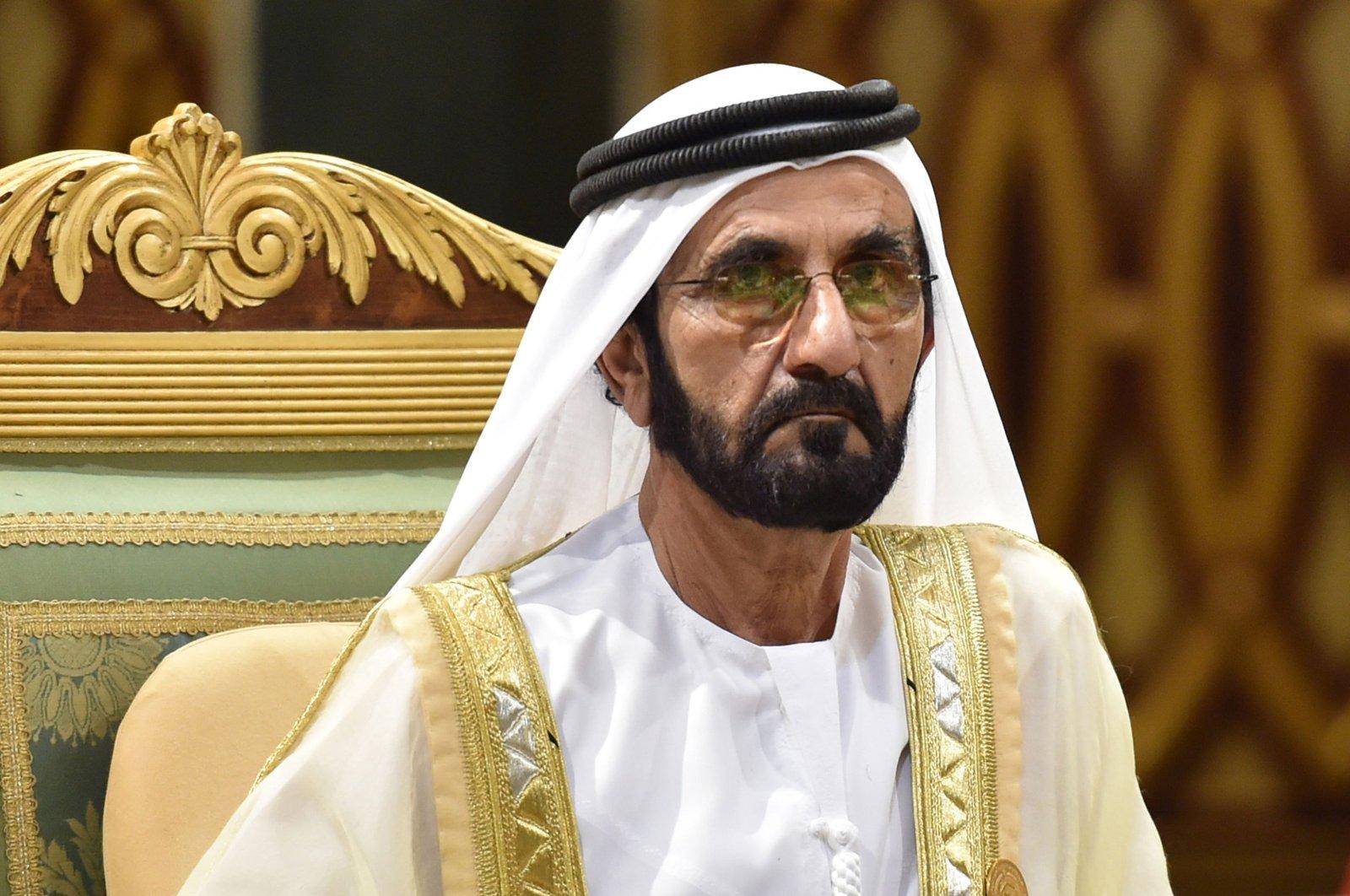 Dubai's ruler Sheikh Mohammed bin Rashid Al Maktoum attends a session of the 40th Gulf Cooperation Council (GCC) summit held at the Saudi capital Riyadh, Dec. 10, 2019. (AFP Photo)