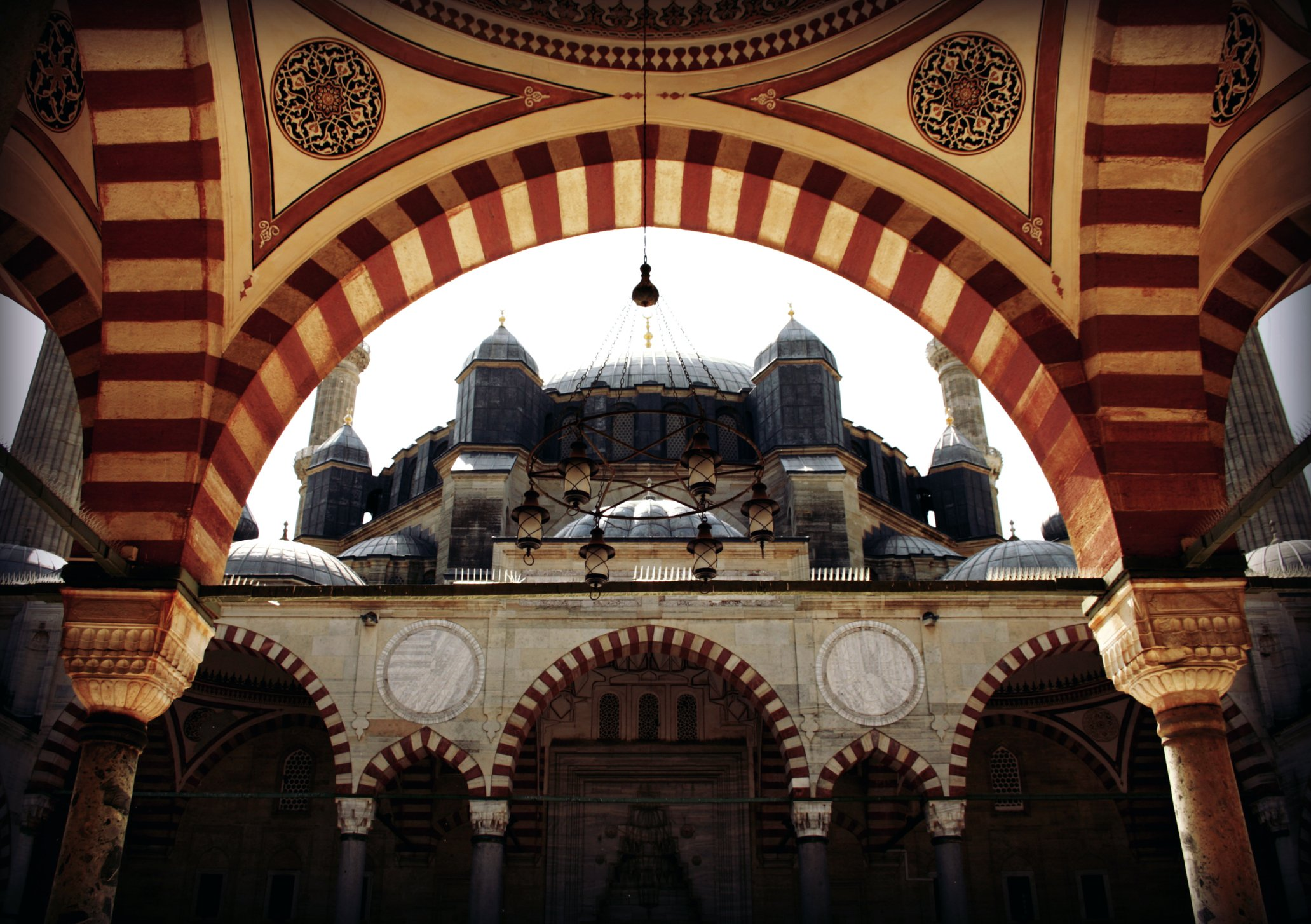 Built with cut stones, the mosque spreads over 2,475 square meters with a 1,620-square-meter interior. (iStock Photo)
