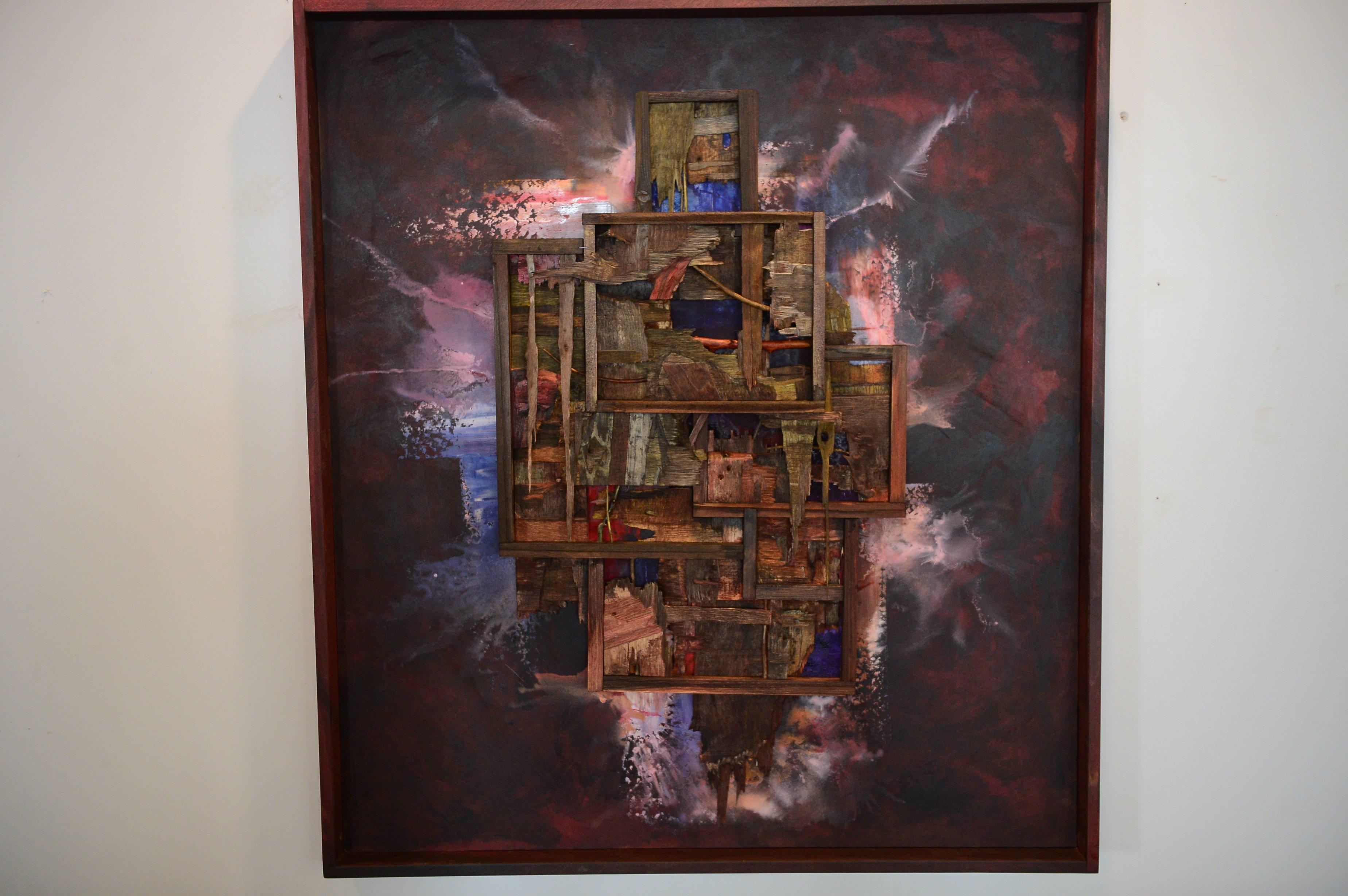 A work by Hamdi Çınar. (AA Photo)