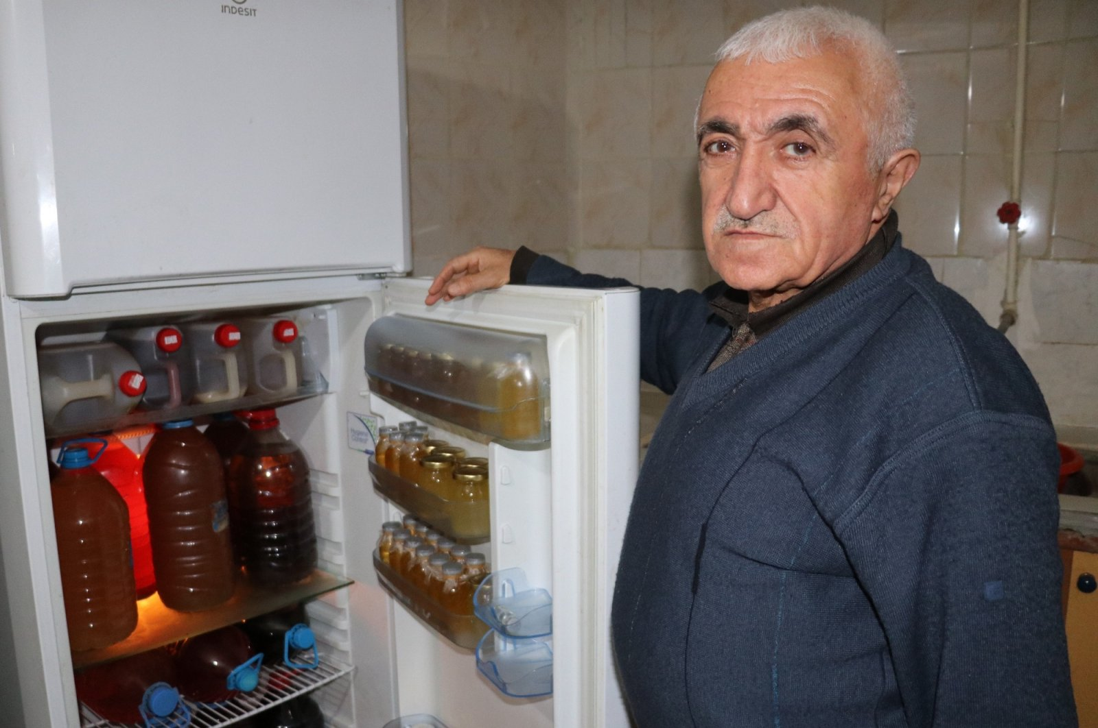 Mehmet Kasım Alageyik previously told reporters that he came up with a cure for the new coronavirus, Van, March 2, 2020. (İHA Photo)