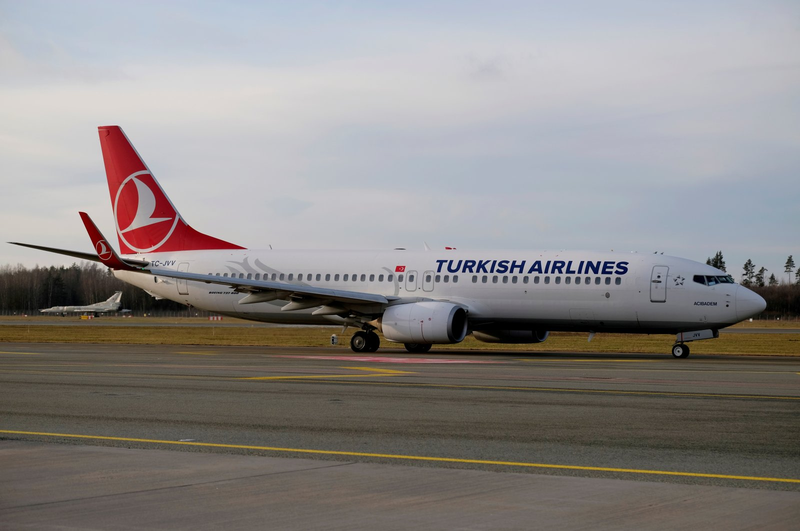 Turkish Airlines Boeing 737-800 plane TC-JVV taxies to take-off in Riga International Airport, Latvia, Jan. 17, 2020. (Reuters Photo)