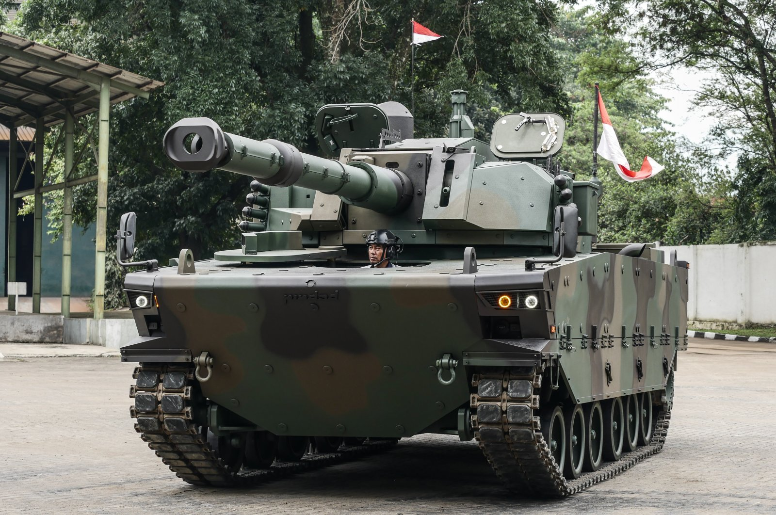 KAPLAN MT tanks are jointly developed by Turkey's FNSS Defense Industries Company and Indonesian PT Pindad. (AA Photo)