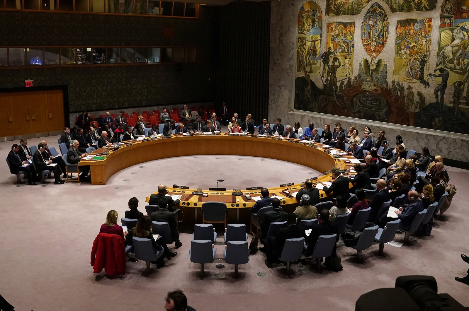 The United Nations Security Council meets about the situation in Syria at United Nations Headquarters in the Manhattan borough of New York City, New York, U.S., February 28, 2020. (Reuters Photo)