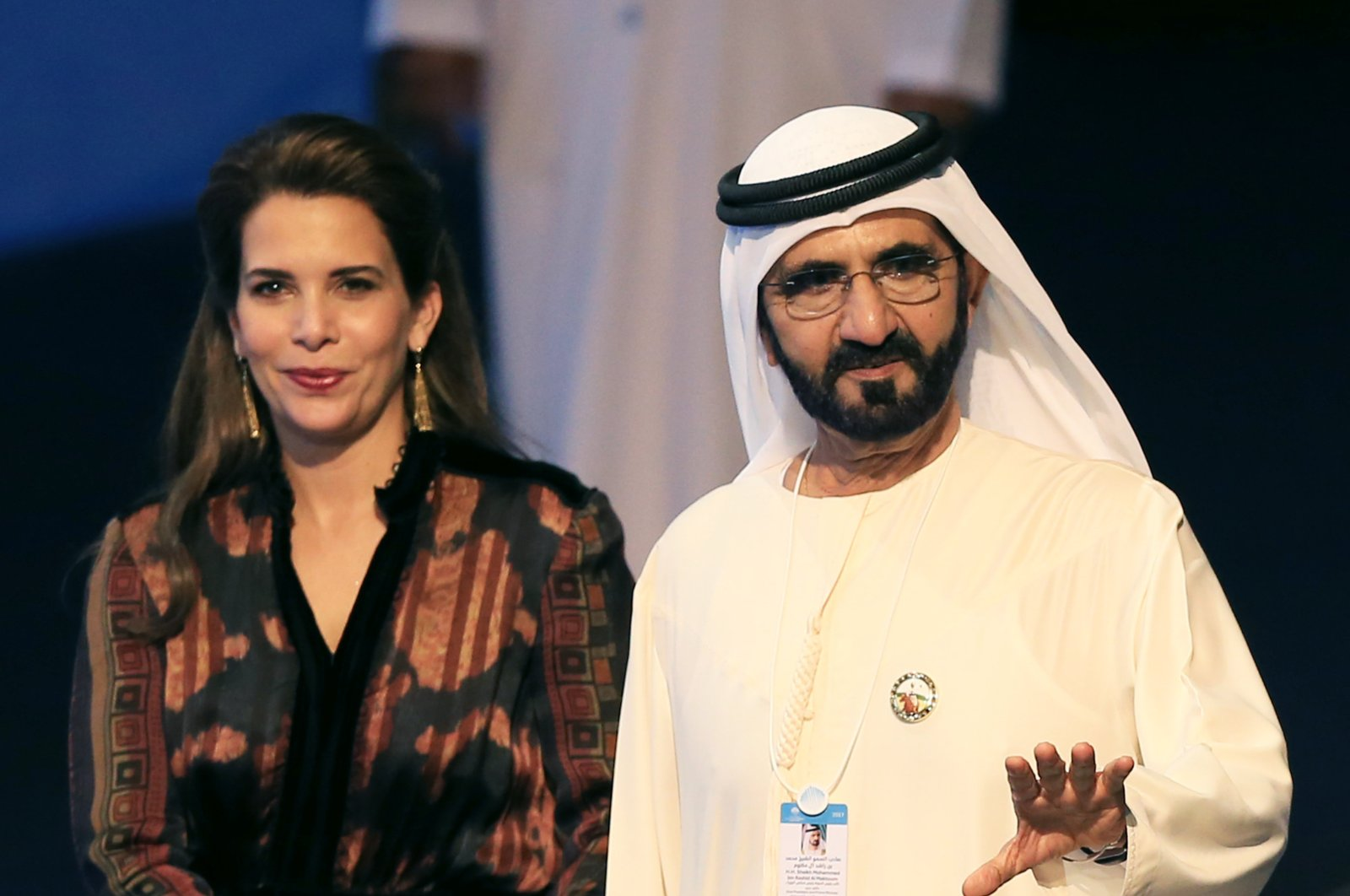 Sheikh Mohammed bin Rashid Al Maktoum, Vice President and Prime Minister of the UAE and Ruler of Dubai arrives with Princess Haya bint Al Hussein during the World Government Summit 2017 at Madinat Jumeirah in Dubai, United Arab Emirates, 14 February 2017. (EPA Photo)
