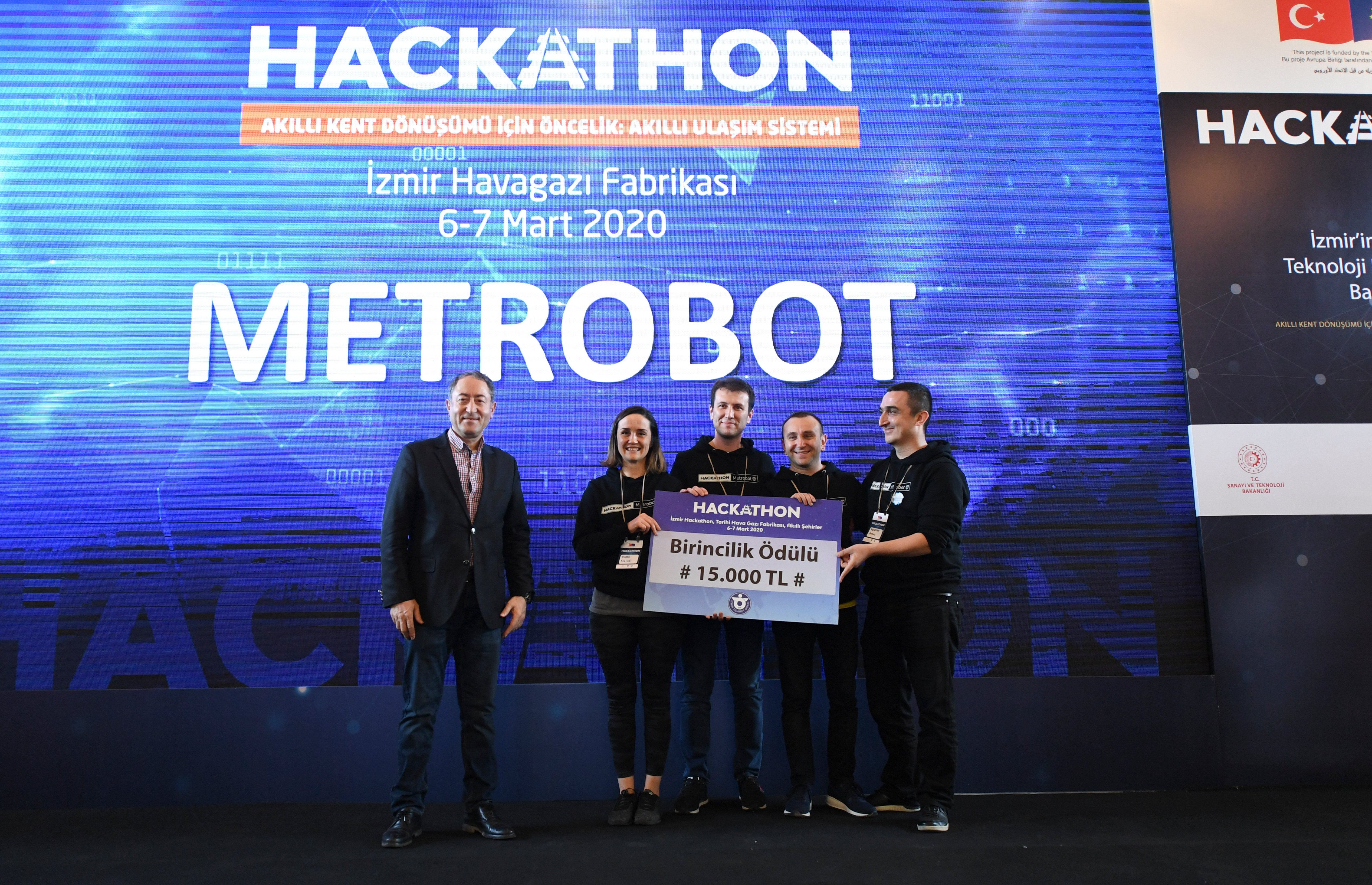 AI-based Metrobot came in first place. (Courtesy of UNDP)