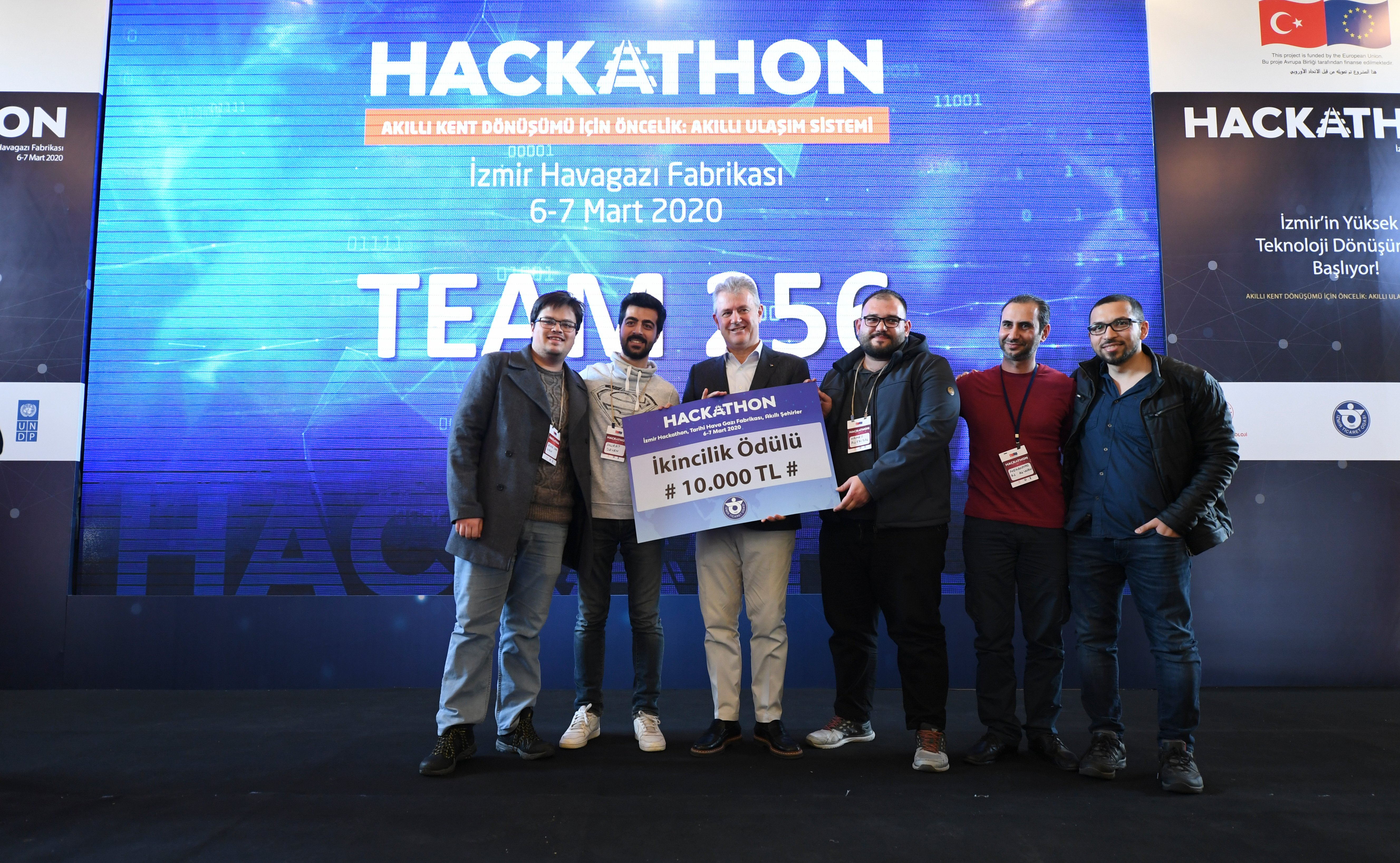 Team 256, which included two Syrian members (Alfaisal, 3-R, and Khankan,1-R), came in second. (Courtesy of UNDP)