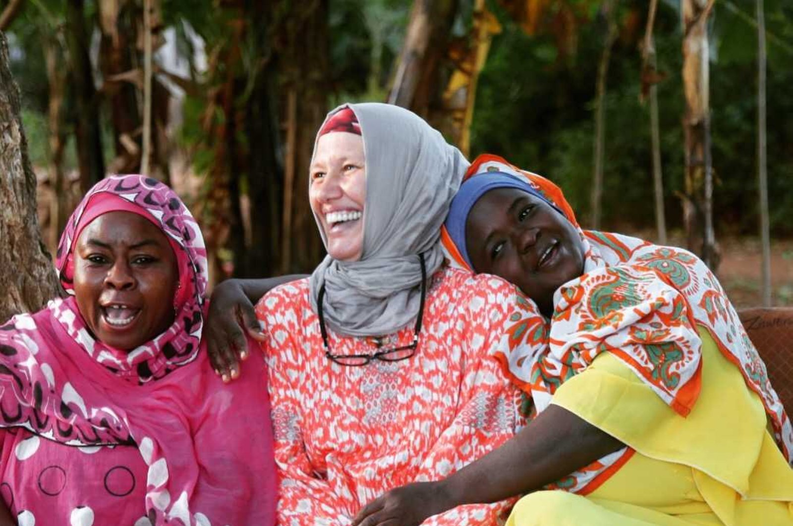 Kevser Aydoğdu (center) said she will always cherish the time she spent in Zanzibar where she fell in love with its culture and people. (Photo courtesy of the Assalam Community Foundation)