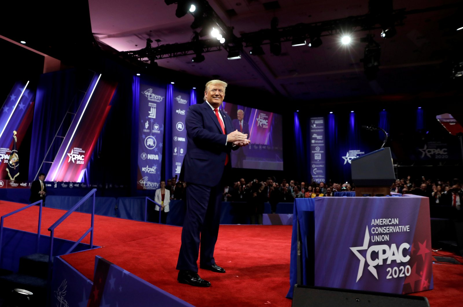 U.S. President Donald Trump arrives at the Conservative Political Action Conference (CPAC) annual meeting at National Harbor in Oxon Hill, Maryland, U.S., Feb. 29, 2020. (Reuters Photo)