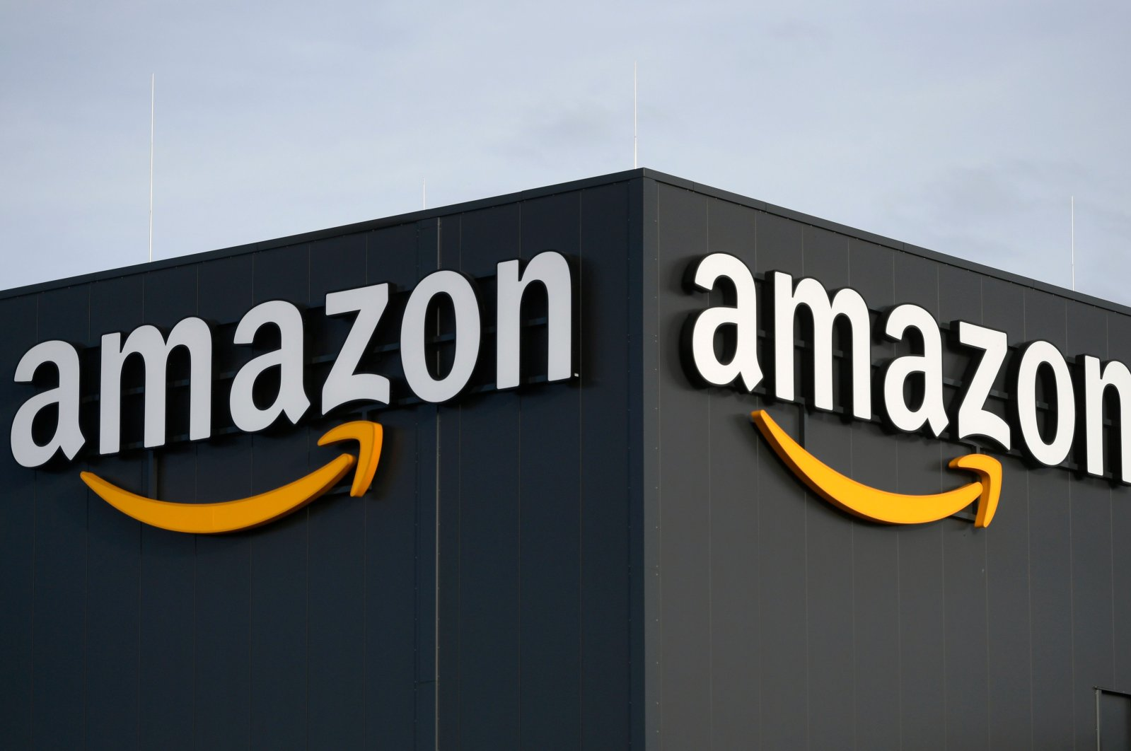 This file picture shows the logo of US online retail giant Amazon at the distribution center in Moenchengladbach, western Germany, on Dec. 17, 2019. (AFP Photo)