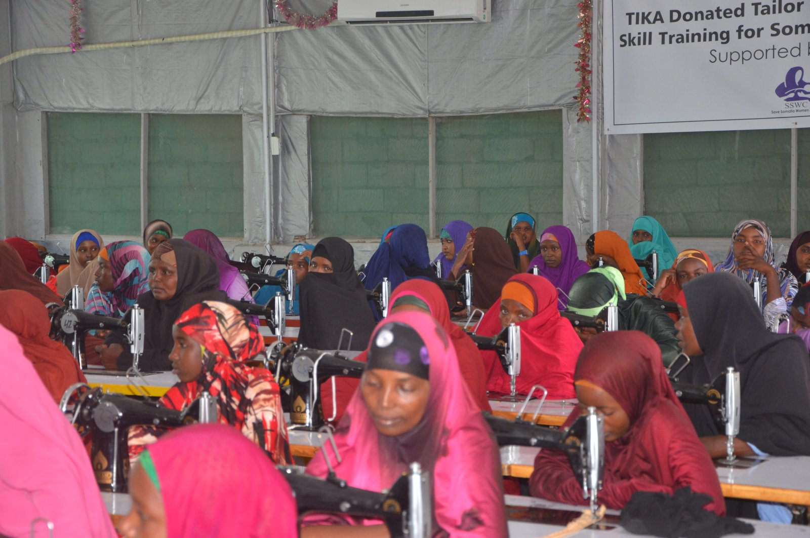 A vocational training project by TİKA in Somalia.