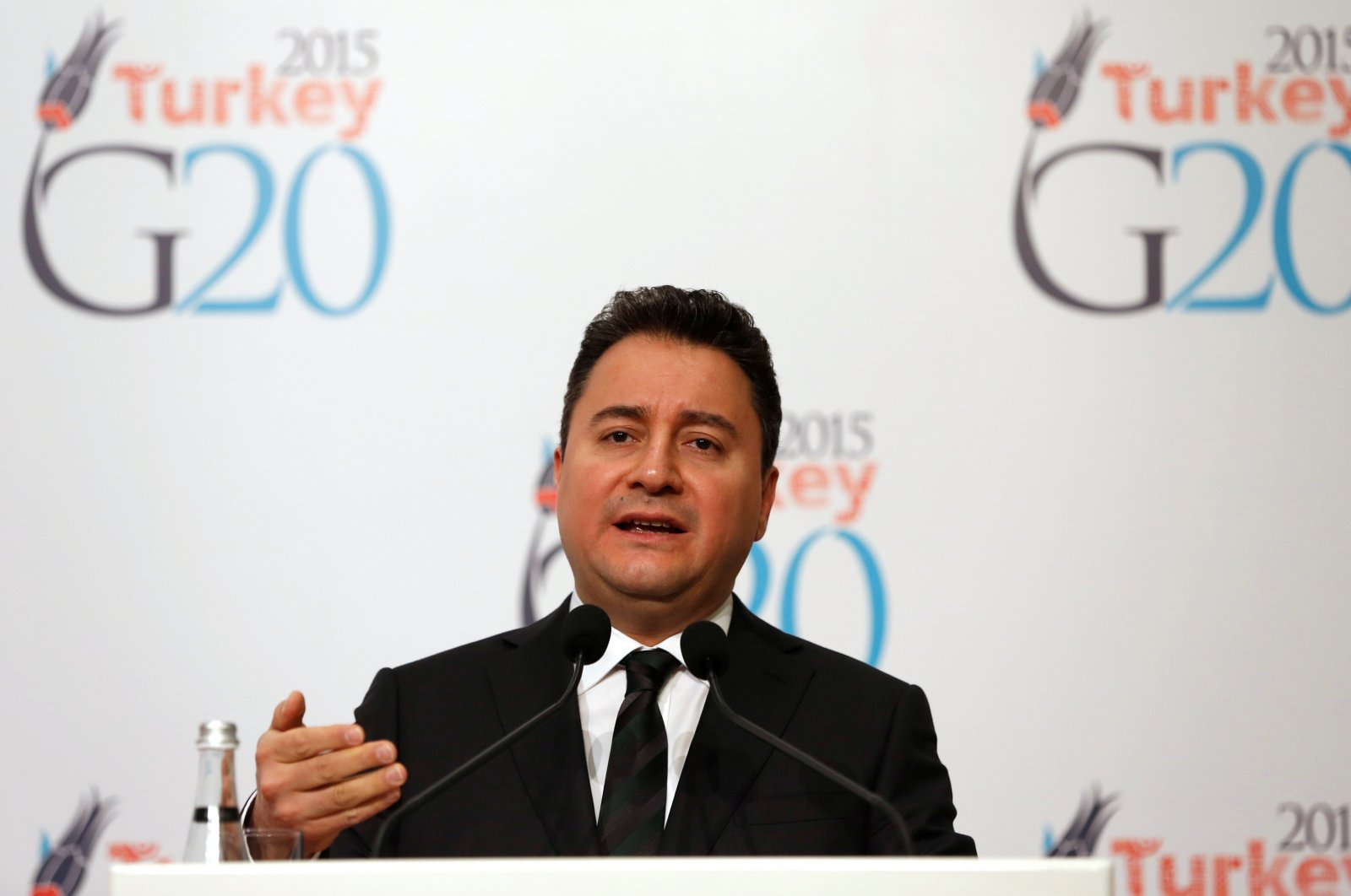 Former Deputy Prime Minister Ali Babacan speaks during a news conference at the G20 meeting of finance ministers and central bank governors in Istanbul, Feb. 9, 2015. (REUTERS Photo)