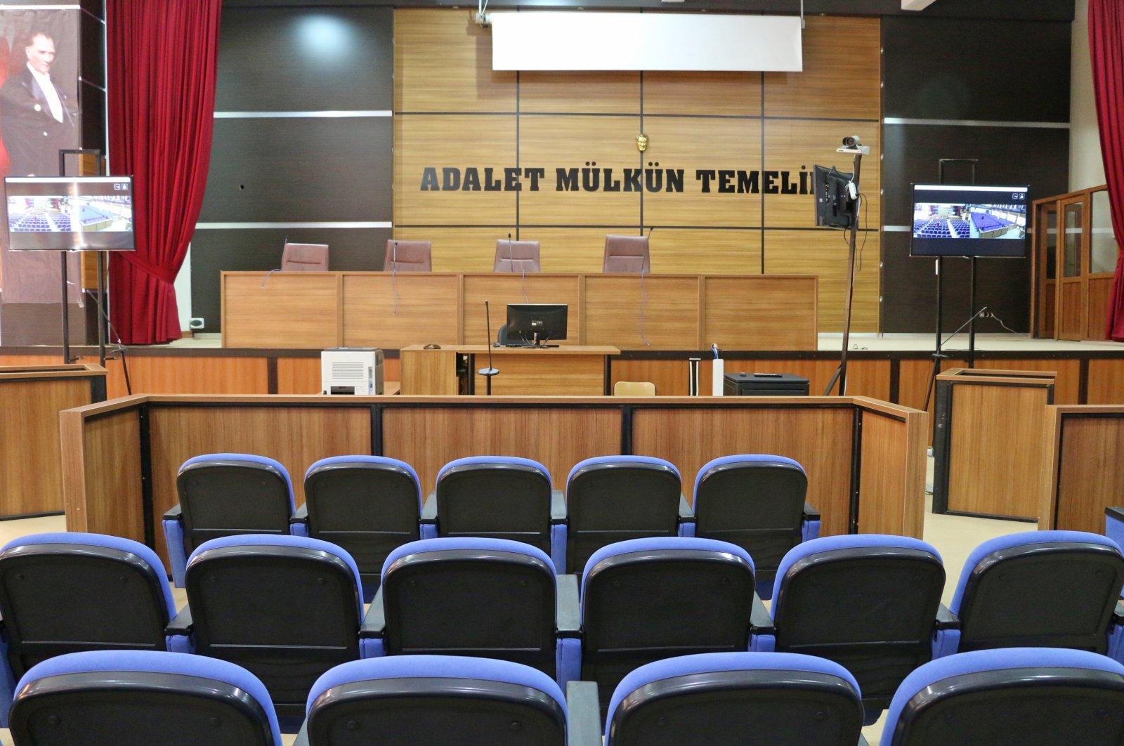 A court room in Turkey. (AA