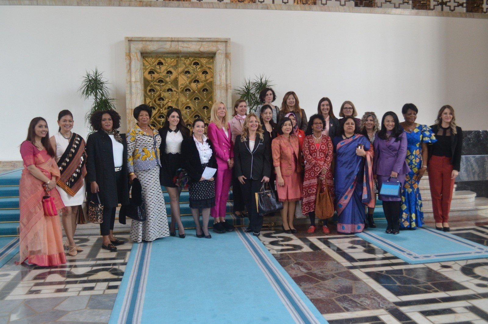Women envoys from various countries met for lunch at Parliament in the capital Ankara, March 9, 2020. (IHA PHOTO)