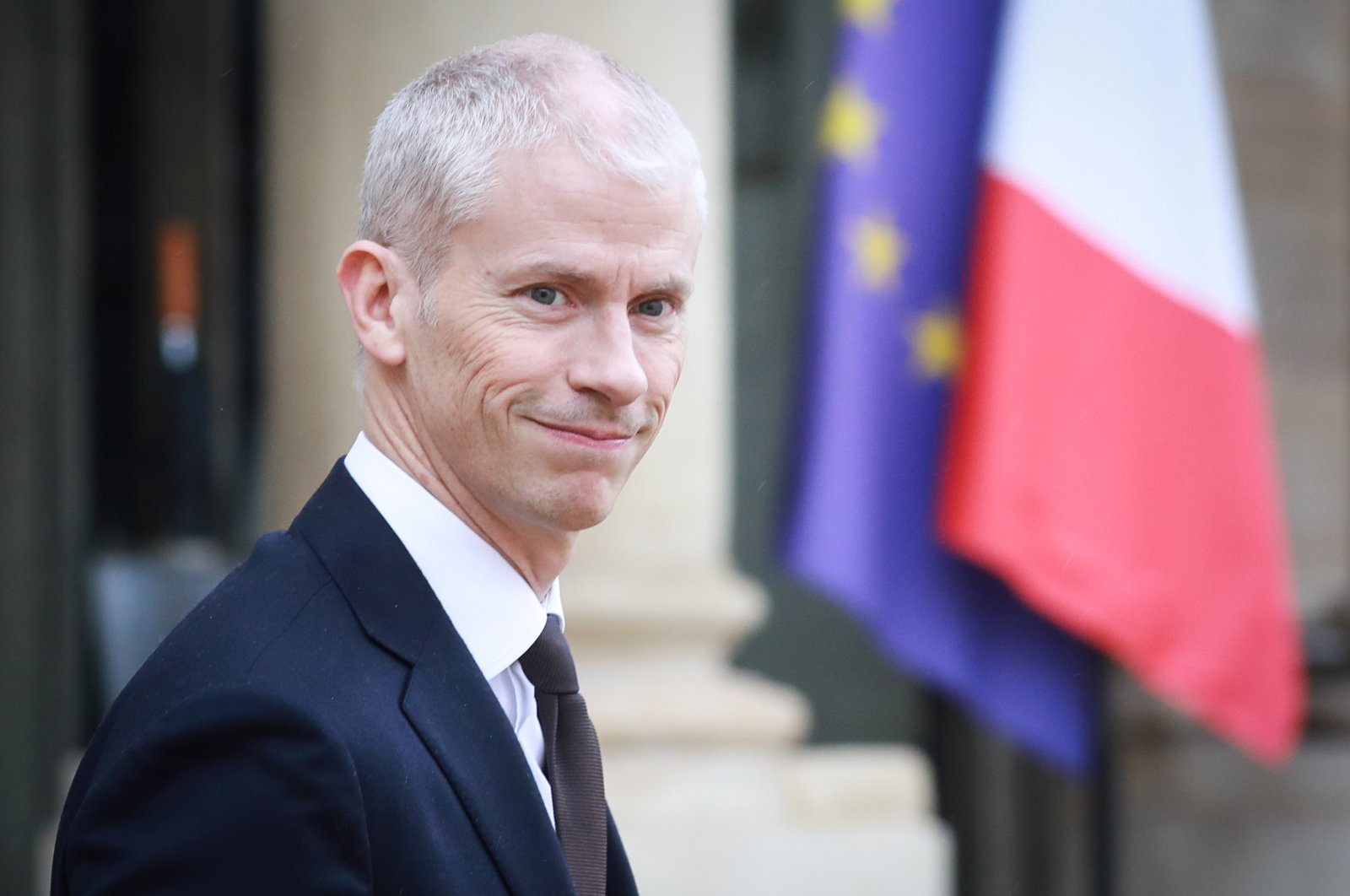 French Culture Minister Franck Riester leaves the Elysee Presidential Palace after a weekly cabinet meeting on March 4, 2020, in Paris. (Photo by Ludovic Marin / AFP)
