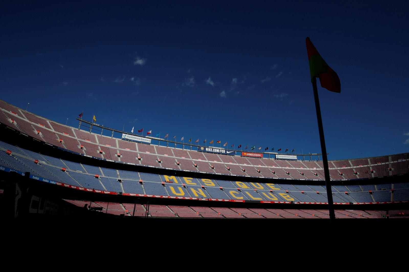 General view inside Camp Nou, Barcelona, Spain, March 7, 2020. (Reuters Photo)