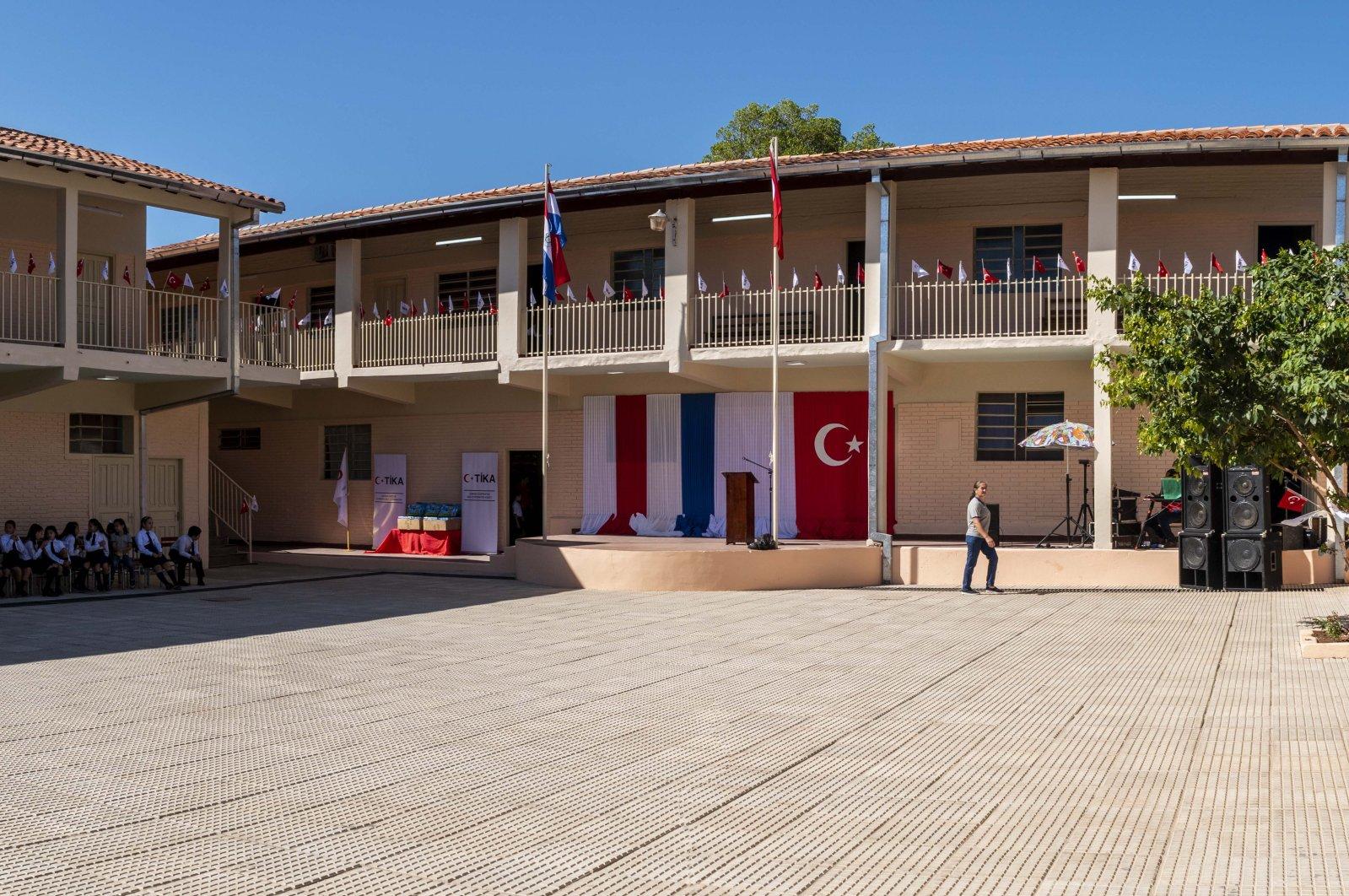 The school in Asuncion hosts 650 students. (AA Photo)