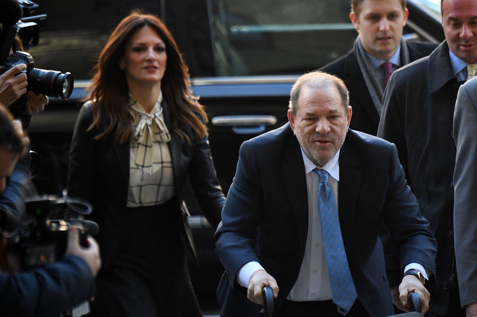 Harvey Weinstein arrives at the Manhattan Criminal Court, New York City, Feb. 24, 2020. (AFP Photo)