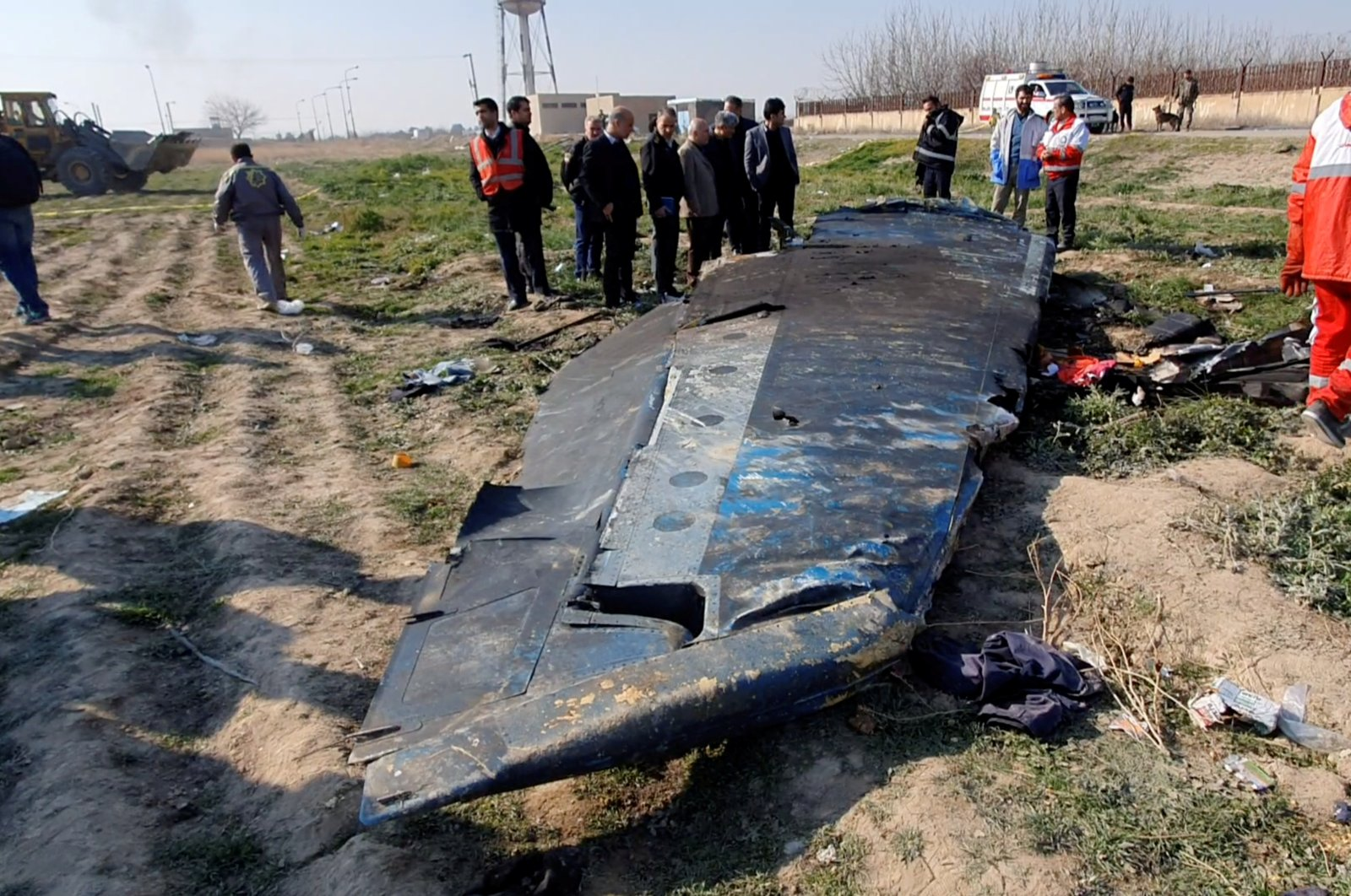 General view of the debris of the Ukraine International Airlines, flight PS752, Boeing 737-800 plane that crashed after take-off from Iran's Imam Khomeini airport, on the outskirts of Tehran, Jan. 8. (Reuters Photo)
