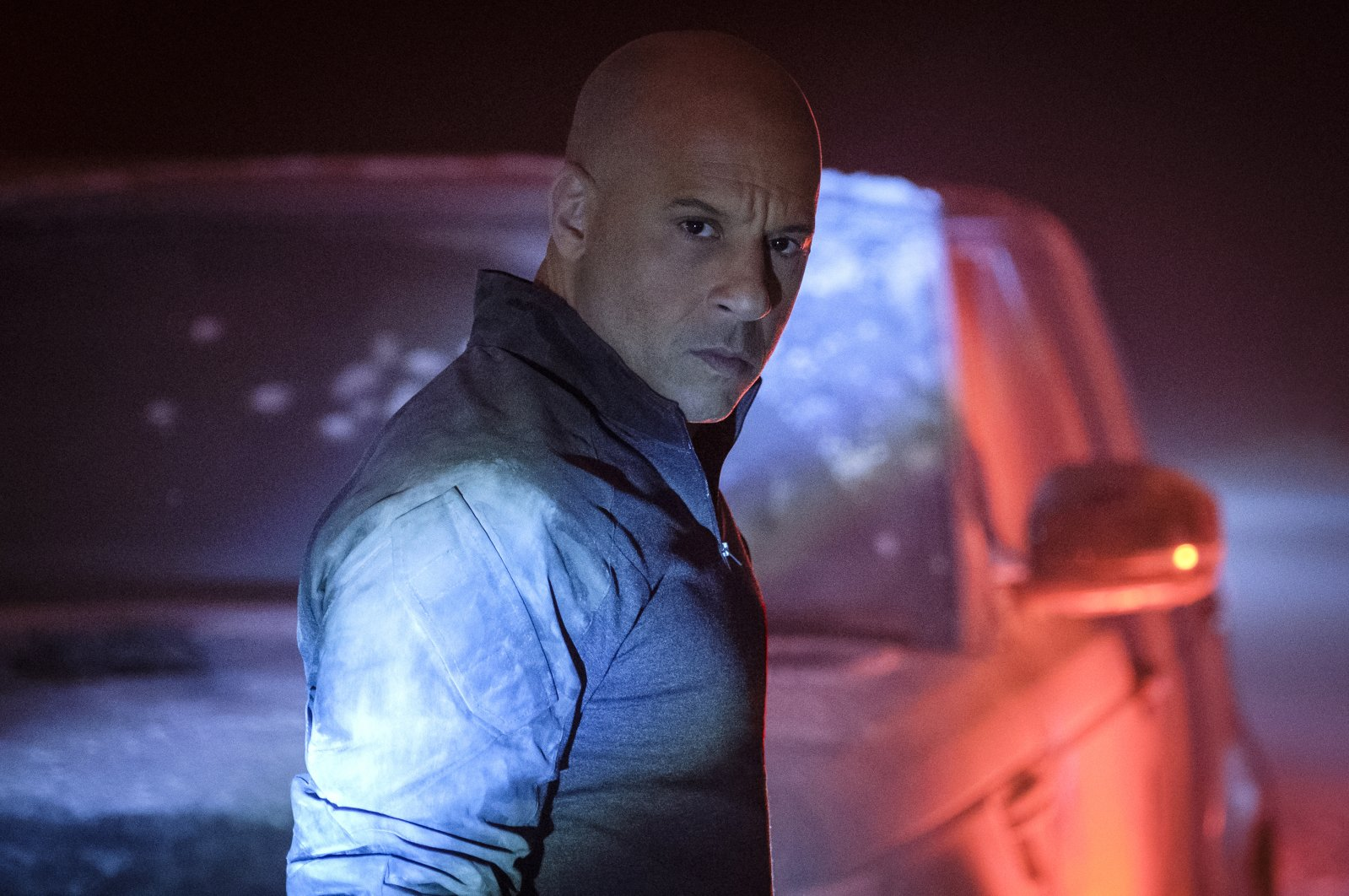 "This image released by Columbia Pictures shows Vin Diesel in a scene from ""Bloodshot."" (AP Photo)"