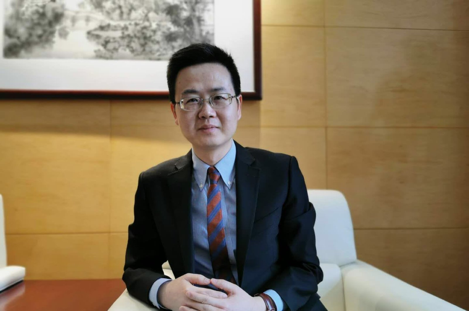 Cheng Weihua, the undersecretary of the Chinese Embassy in Ankara, March 13, 2020.